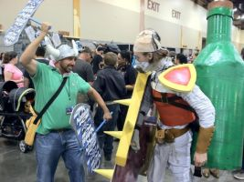Singed and Brolaf action shot PHXCC 2013 by ImperialCody