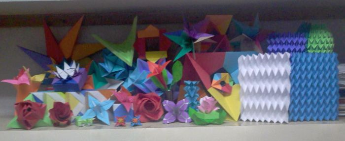 A glimpse of most of my origami works by TheOrigamiArchitect