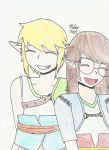 TP Link and my OC (Villager Garb) by FullmetalHeartedGirl