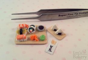 Miniature sushi set by EmisBakery