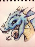 Water colour: Icy Dragon! by ashlin422