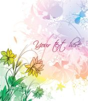 Flowers vector background by T3hSpoon