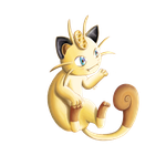 Meowth nyaa by Kureeru
