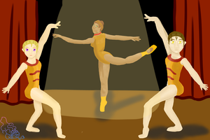 2 Gymnast And A Dancer by Notebook-Queen