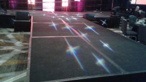 The runway for the fashion show by mylesterlucky7