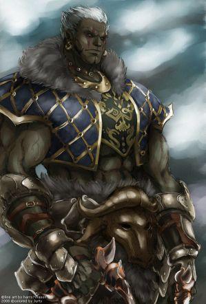 Half Orc Portrait all