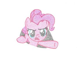 Pinkie Pie Pointillism 3 by Wotato