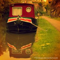Barge on Chester Canal by grifasp