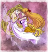 Neo-Queen Serenity x Sailor Venus by Moophles