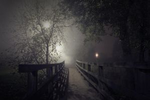 Night Bridge by MikkoLagerstedt