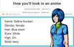 How you'll look in an anime by Green-Fighter