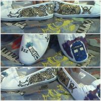 Doctor Who/Steampunky Shoes by Peanuts-kill