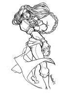 Vega Line ART Street Fighter Challenge by Stupidartpunk