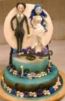 Corpse Bride Cake by rubberpoultry