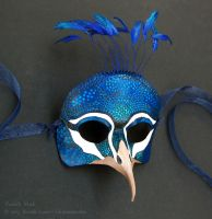 Peacock - Leather Mask by windfalcon