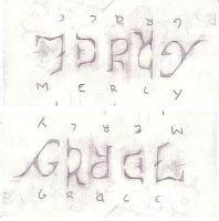 grace mercy ambigram by gardenhoes