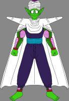 Barefoot Pure-Hearted Piccolo Jr. 5 by DragonBallFan2012