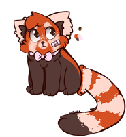 My red panda by QueenBirb