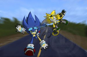 :Sonic and Tails: by SiNGE-0