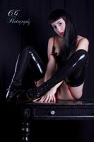Ballet heels and latex by StereoVisions
