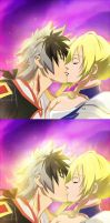 Nobunaga the fool: Jeanne and Nobunaga kiss ending by Lesya7