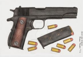 US .45 Colt M1911A1 Pistol by stopsigndrawer81