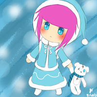 League of Legends: FrostFire Annie chibi by TheMuteMagician