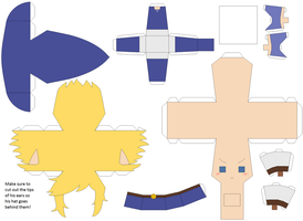 FSA Blue Link Papercraft Template by Huski-Fan
