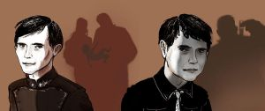 Shadows from the Past. Miles and Mark Vorkosigan by AmiMercredire