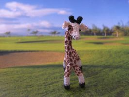 Lil giraffe on the grass by lovebiser