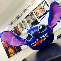 Stitch Painted Pumpkin by MoonRhea