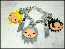 Seph + Cloud + Zack Bracelet by GrandmaThunderpants