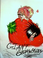 giant strawberry by Sorenobsessedfreak