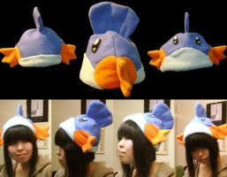 Mudkip Hat for PAX 08 by tsunamia