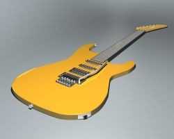 3ds max Guitar by Brisinger