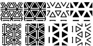 Triangles Patterns AddOn by wuestenbrand