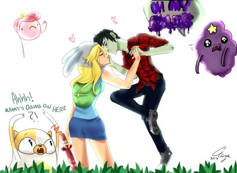 Fiona and Marshall Lee by DoodleBerryAsh