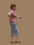 Woman in a Pink T-Shirt by characterundefined