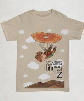 Skydiving Ctrl Z T-shirt by KarinMind