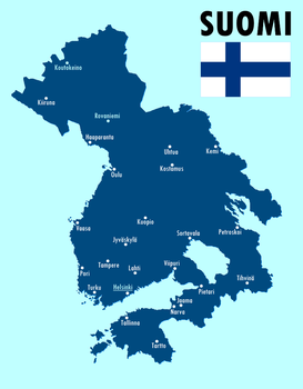Stylized map of a Greater Finland by altmaps