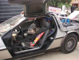 the back to the future car by wolvesforever122