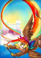 Commission: Rainbow Feather's Rainbow by bakki