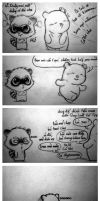 I hate you Silly Teddy Bear by racoonloveglee