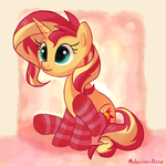 Sunset In Socks :3 by Molochko-Persik