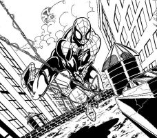 Spidey 2010 ink by hdub7