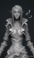 Archer Lady Sibill WIP1 by YBourykina