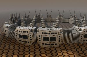 Fort Mandelbulb by allthenightlong