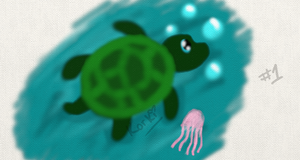 Turtle and Jelly Fish by Randomness-By-Korki