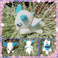 Sea Biscuit the Giratina inspired dragon plush by Technoloaf