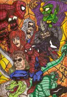 spider man and the villains by jpbijos